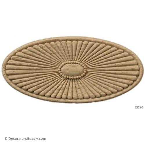 Rosette - Oval    3   1/2 High 7   1/4 Wide 1/4 Relief