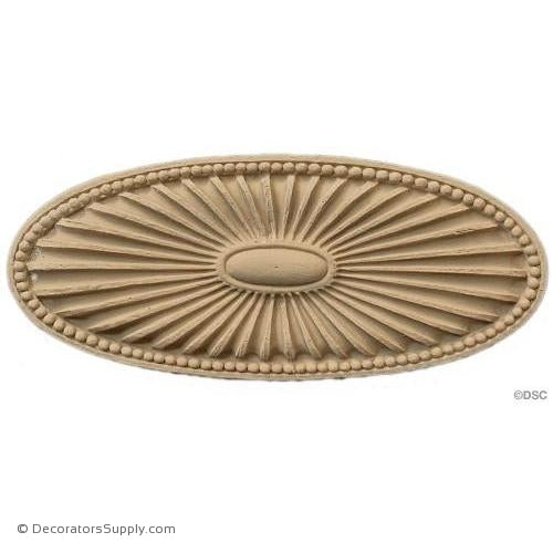 Rosette - Oval    2   5/8 High 6 Wide 1/4 Relief