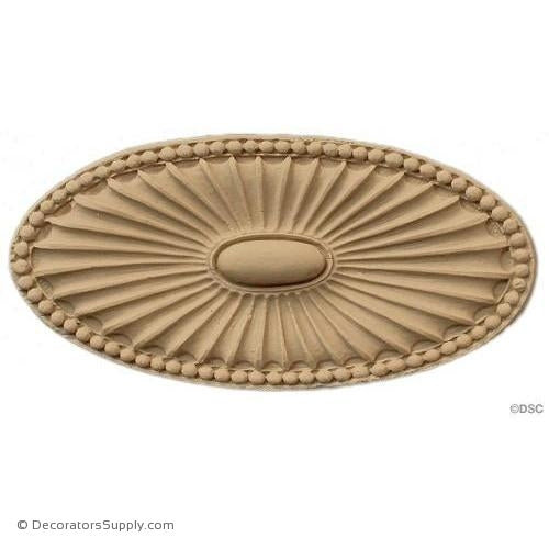 Rosette - Oval    2   5/8 High 5   1/4 Wide 1/4 Relief