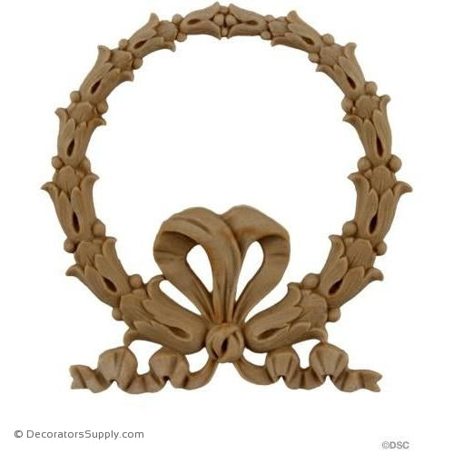 Wreath - 3 1/2 Wide x 3 1/2 High-ornaments-for-woodwork-furniture-Decorators Supply
