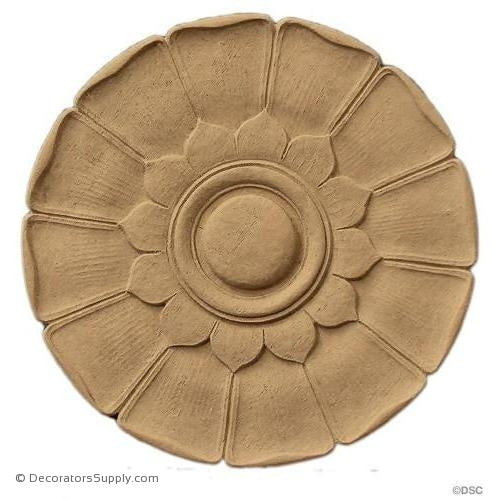 "Rosette - Circle  5 7/8"" Diameter 5/16"" Relief-woodwork-furniture-ornaments-Decorators Supply"