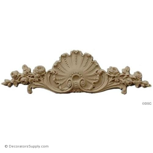 Cartouche 3 1/2 High 12 Wide 3/8 Relief-appliques-for-woodwork-furniture-Decorators Supply