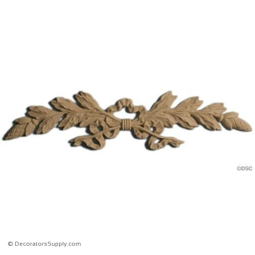 Laurel Leaf Design - 13 Wide x 3 High-ornaments-furniture-woodwork-Decorators Supply