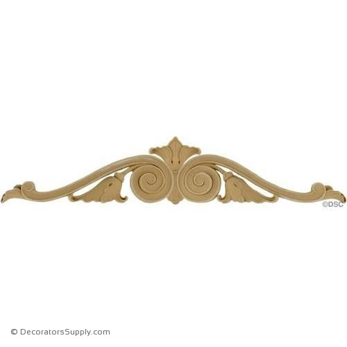 Cartouche 5 High 25 Wide 1/2 Relief-ornaments-for-woodwork-furniture-Decorators Supply