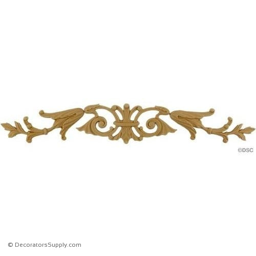 Horizontal Design 2 7/8 High 17 1/2 Wide 1/4 Relief-ornaments-for-woodwork-furniture-Decorators Supply