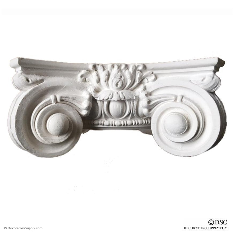 Plaster Capital [Round] - Italian Renaissance Ionic Scamozzi-Decorators Supply