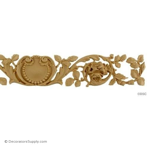 Floral Band with Shell  2 1/2 High 17 Wide-ornaments-for-woodwork-furniture-Decorators Supply