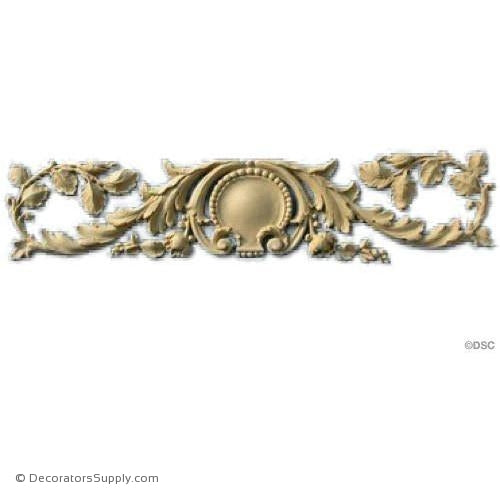 Floral Band with Shell 2 1/2 High 12 Wide-ornaments-for-woodwork-furniture-Decorators Supply