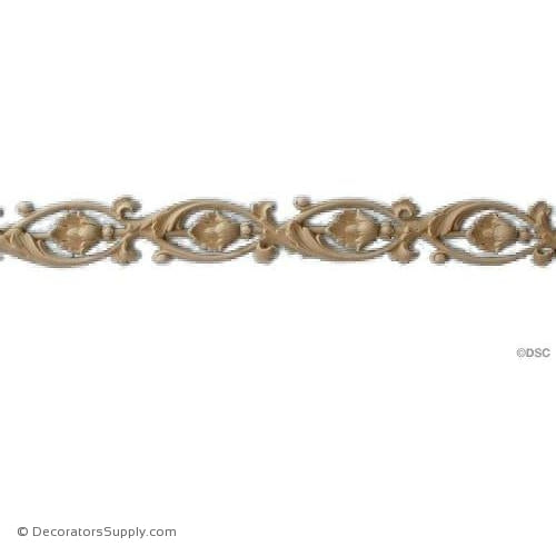 "Running Vine & Leaf - 1 1/2"" H x 17"" Long-ornaments-for-furniture-wooodwork-Decorators Supply"