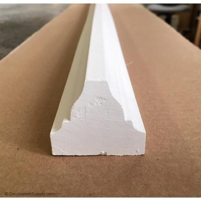 "Plaster Ceiling Molding 1-3/4"" W x 1-1/2"" R"