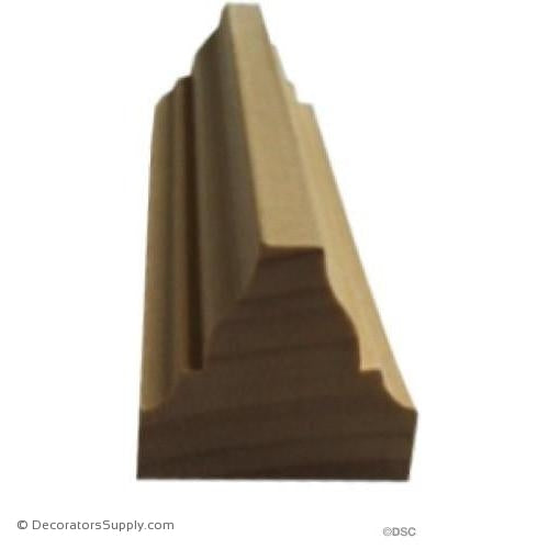 "Wood Tracery Moulding -  1 3/4 W x 1 1/2"" Rel - Full Rib"