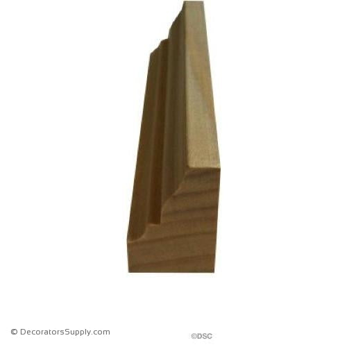 "Wood Tracery Moulding -  1"" W x 1 1/2"" Relief - Half Rib"