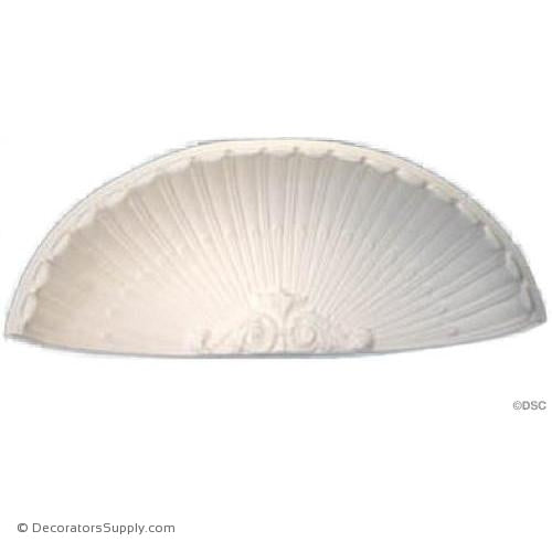 "Plaster Shell-34 1/2"" Wide X 13"" High X 8"" Deep-niche-shell-Decorators Supply"