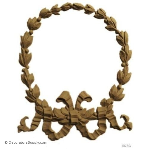 Wreath 7 High 6 Wide-ornaments-for-woodwork-furniture-Decorators Supply