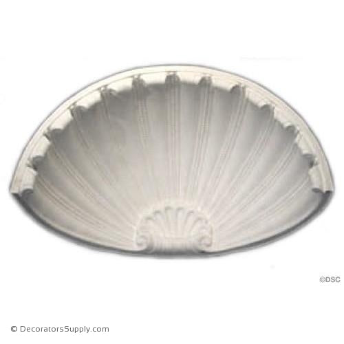 "Plaster Shell-13 3/8"" Wide X 6 3/4"" High X 6 1/4"" Deep-niche-shell-Decorators Supply"