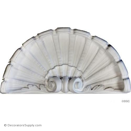 "Plaster Shell - 17"" Wide X 8 5/8"" High X 3 3/4"" Deep-niche-shell-Decorators Supply"