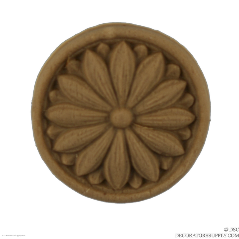 Rosette - Circle 1 3/8 Diameter-woodwork-furniture-ornaments-Decorators Supply