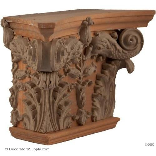 Stain Grade Wood Pilaster Capital [Half Square] - Modern Renaissance Coleone-Decorators Supply