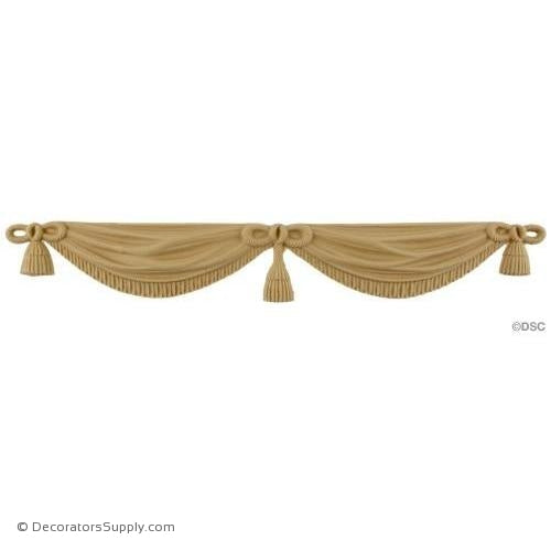 Drapery Swag & Tassel-ornaments-for-woodwork-furniture-Decorators Supply