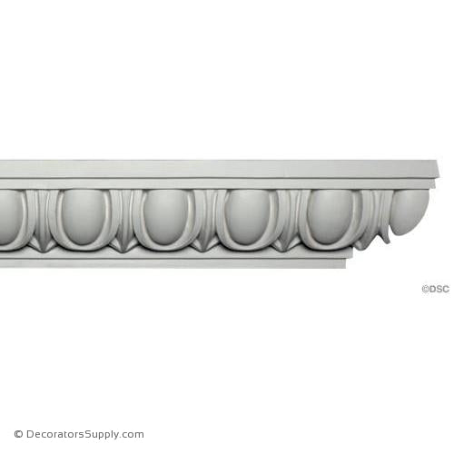 "Plaster Egg and Dart Molding Roman 4-1/2"" W x 3-3/4"" R"