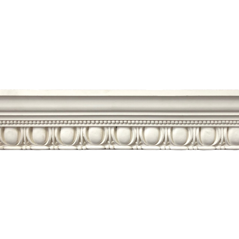 "Plaster Crown Molding Roman with Egg and Dart 2-1/4"" P x 4-1/4"" D"