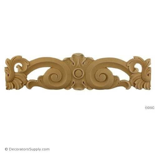 Scroll Linear Design 4 High 14 1/4 Wide-ornaments-for-furniture-wooodwork-Decorators Supply