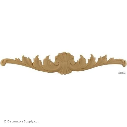 Cartouche 3 High 15 3/4 Wide-appliques-for-woodwork-furniture-Decorators Supply
