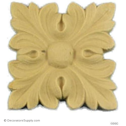 "Rosette - Square - 1 5/8""-ornaments-for-woodwork-furniture-Decorators Supply"