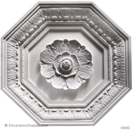 "Italian Coffered Octogan 22 1/2"" x 1 3/4""-Hand-cast-all-natural-Decorators Supply"