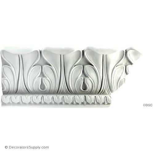 "Plaster Crown-French-5 1/2"" Proj X 5 1/2"" Drop X 5"" Repeat-Decorators Supply"