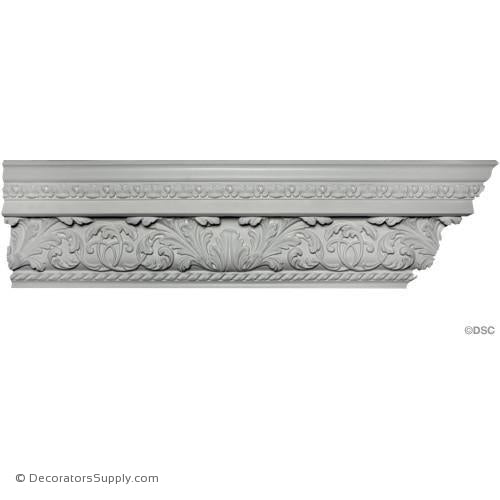 "Plaster Crown-Georgian-6""Proj x 7 1/2"" Drop x 9 1/2"" Repeat-Decorators Supply"