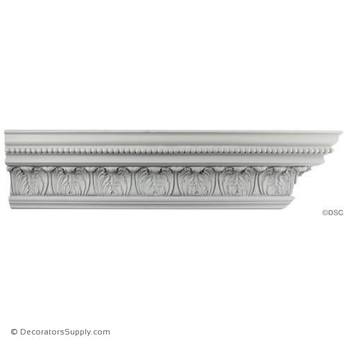 "Plaster Crown-Georgian-4"" Proj X 4 3/4"" Drop X 3 1/4"" Rep-Decorators Supply"