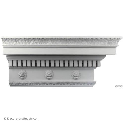 "Plaster Crown-Roman-5"" Proj x 10 3/4"" Drop-Decorators Supply"