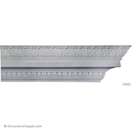 "Plaster Crown - Georgian - 7 1/8""Drop x 7 1/8""Proj-Decorators Supply"