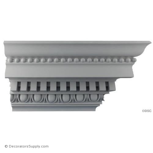 "Plaster Crown-Roman-6 3/4 Proj X 7 3/4 Drop-2"" Repeat-Decorators Supply"