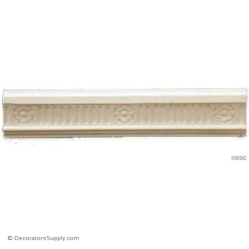 "Plaster Panel Molding  Fluted  1""P x 2 3/4""D"