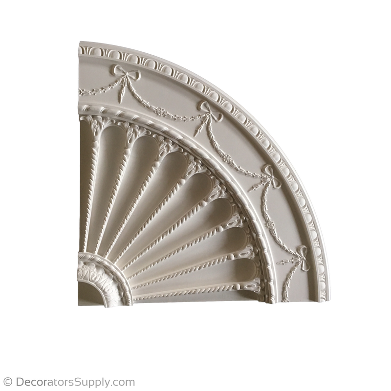 "60-1/4"" Diameter Plaster Medallion Colonial x 2"" Relief"