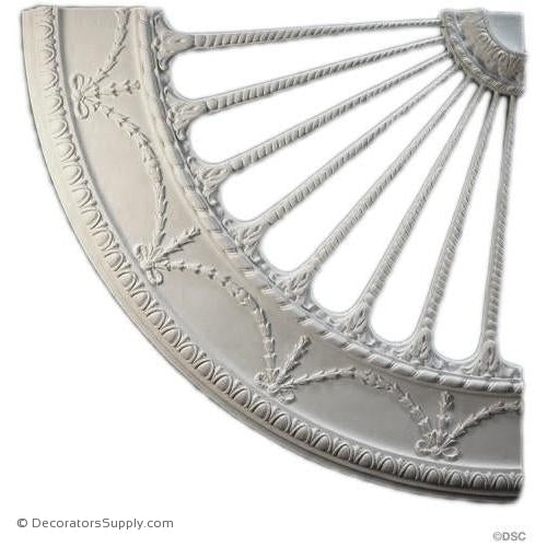 Plaster Medallion or Vented Grilled Colonial-ceiling-ornament-Decorators Supply