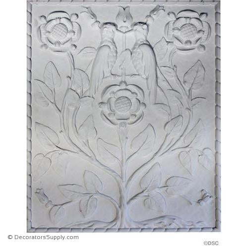 "Plaster Panel-Old English-32 1/2"" X 26 1/2""-1 3/8"" Relief-ceiling-ornament-Decorators Supply"