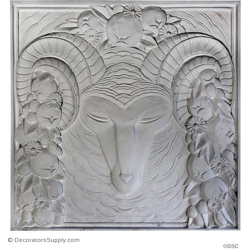 "Plaster Panel-Art Deco-24"" X 24""-1"" Relief-ceiling-ornament-Decorators Supply"