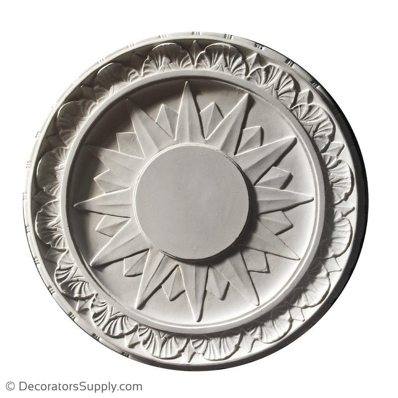 "Plaster Medallion Colonial  21"" x 1-1/4"" x 6"" Center"