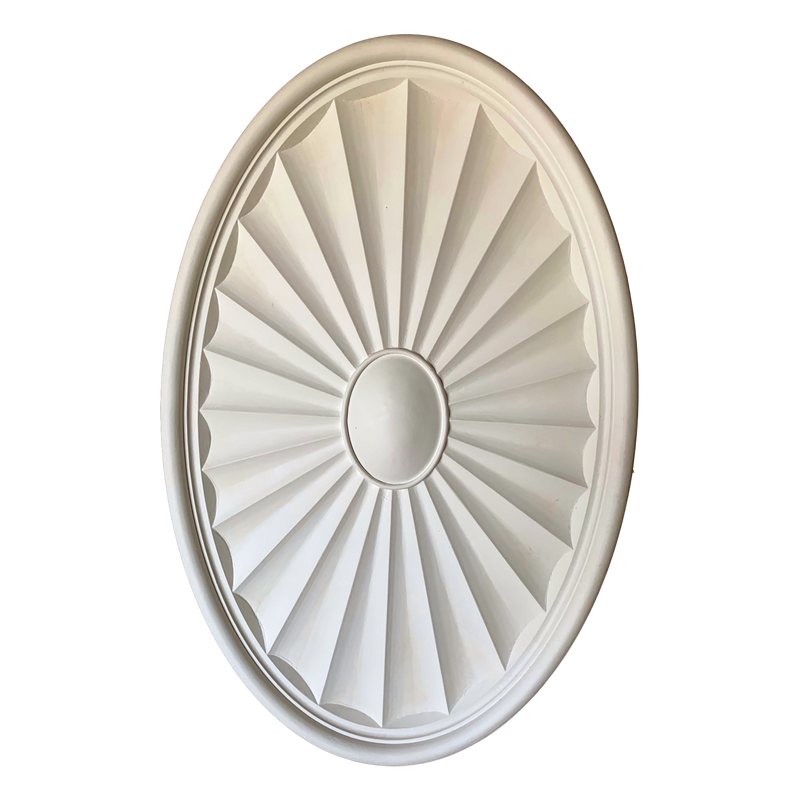 "40-1/8"" x 26-1/8"" Plaster Oval Medallion x 1-3/4"" Relief"