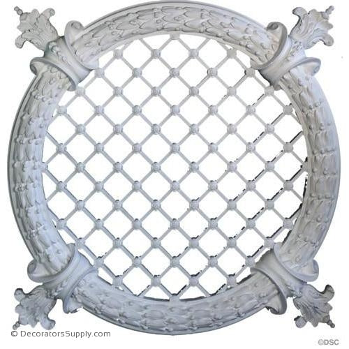 Plaster Medallion or Vented Grille Classic-ceiling-ornament-Decorators Supply