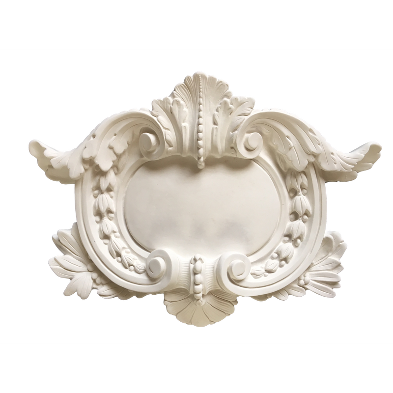 "Plaster Shield with Swags French 78"" W X 19"" H X 3-1/2"" Relief"