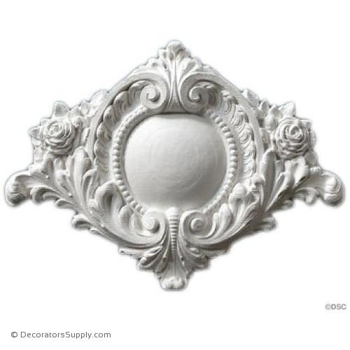 "Resin (Exterior) Shield - French - 15""W x 11 1/2""H x 7/8""Relief"