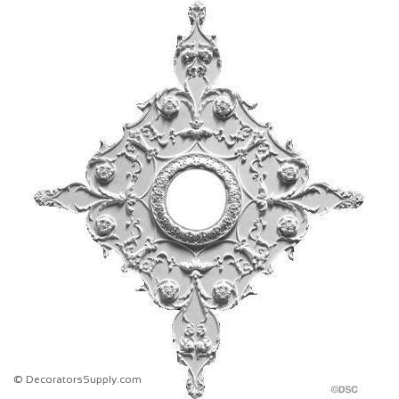 "Plaster Medallion -Italian-32"" X 38 1/2""-11/16"" Rel- 6"" Hole-ceiling-ornament-Decorators Supply"