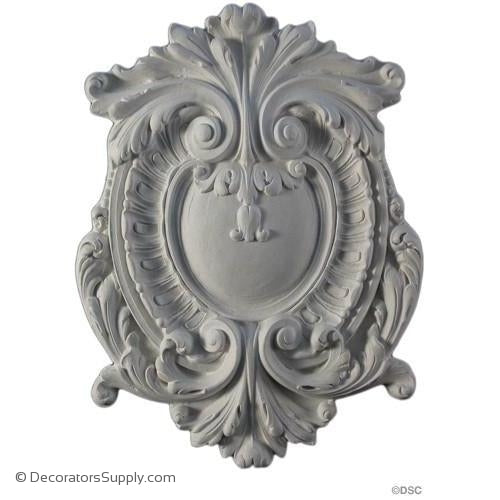"Plaster Cartouche--French--9 1/2"" X 12 3/4""--1/2"" Relief"