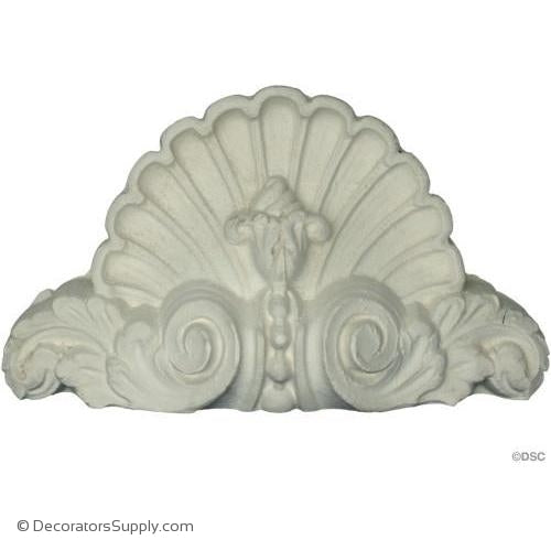 "Plaster Cartouche--French--6 3/4"" X 3 3/4""--1 5/8"" Relief"