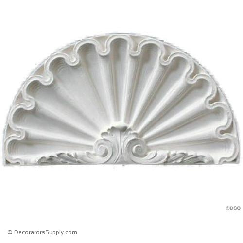 "Plaster Shell-LouisXVI-12 7/8"" X 7 1/4""-1"" Relief-niche-shell-Decorators Supply"