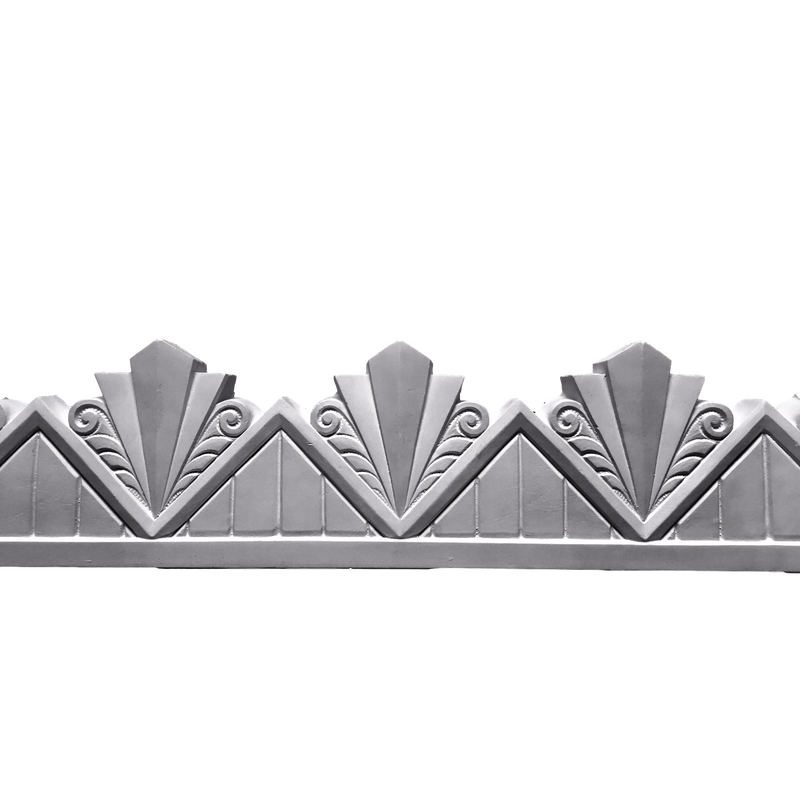 "Plaster Frieze Art Deco Modern 6 1/2"" H x 1 1/4"" R  7"" Rpt"